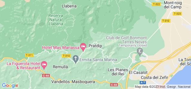 Mapa de Pratdip