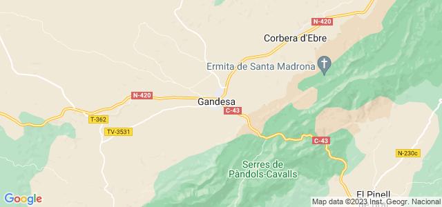 Mapa de Gandesa