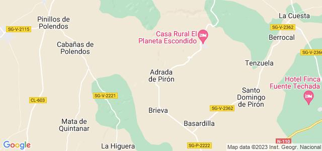 Mapa de Adrada de Pirón