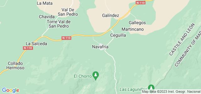 Mapa de Navafría