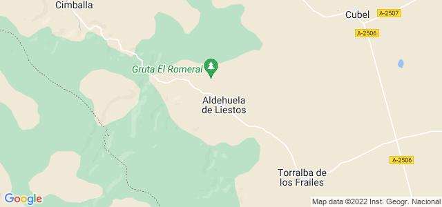Mapa de Aldehuela de Liestos