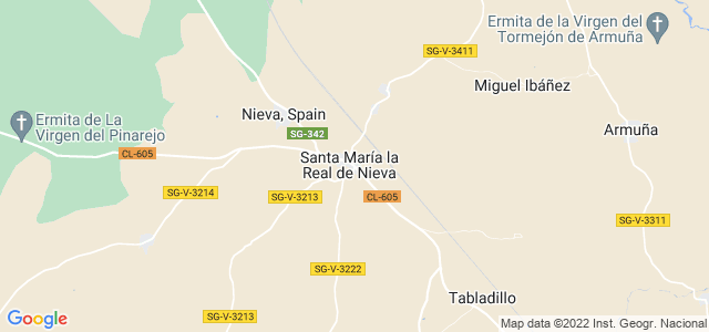 Mapa de Santa María la Real de Nieva