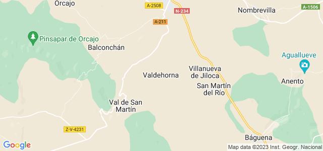Mapa de Valdehorna