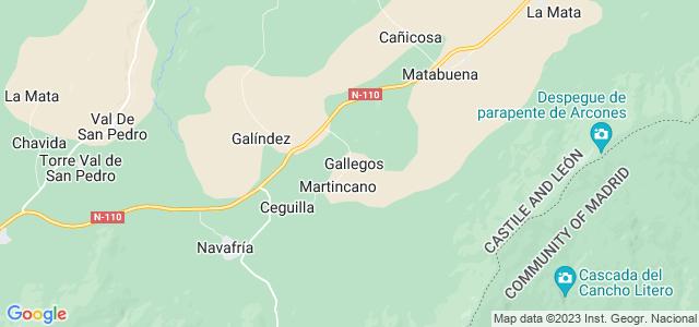 Mapa de Gallegos