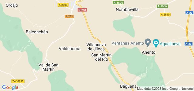 Mapa de Villanueva de Jiloca
