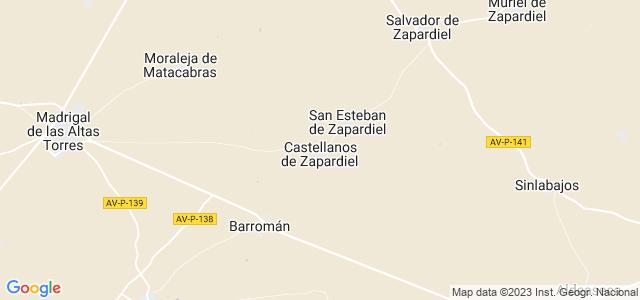 Mapa de Castellanos de Zapardiel