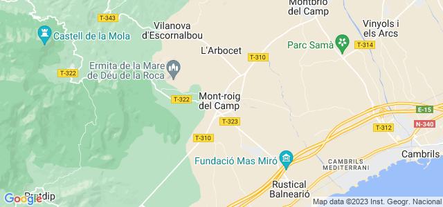 Mapa de Mont-roig del Camp