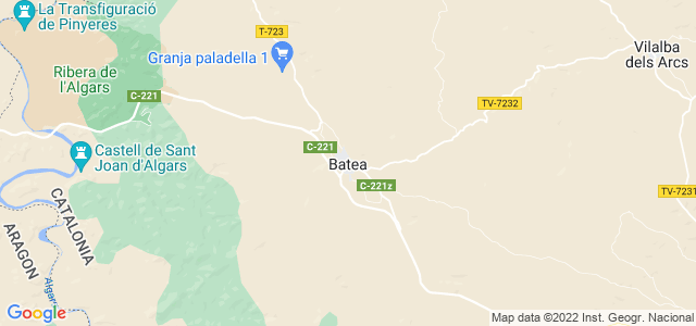 Mapa de Batea