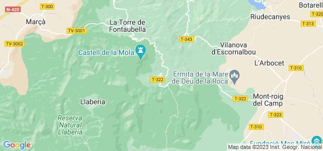 Mapa de Colldejou