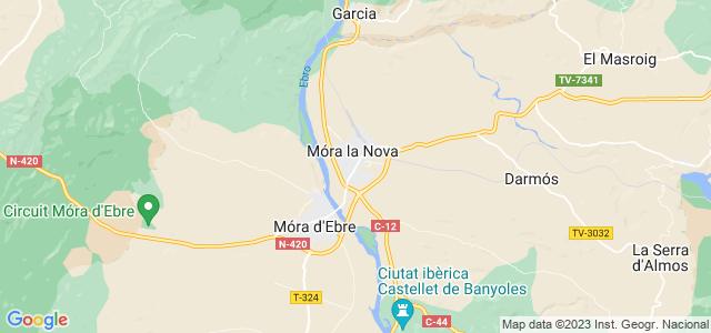 Mapa de Móra la Nova