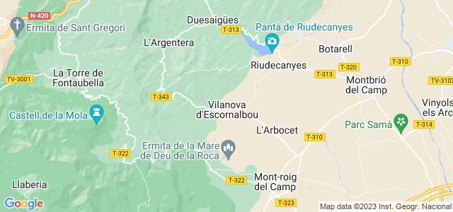 Mapa de Vilanova dEscornalbou