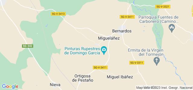 Mapa de Domingo García