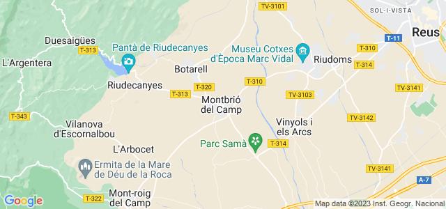Mapa de Montbrió del Camp