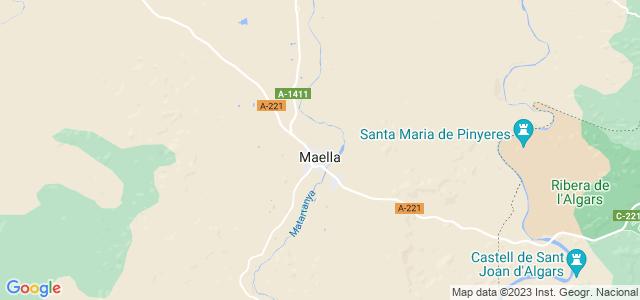 Mapa de Maella