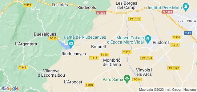 Mapa de Botarell