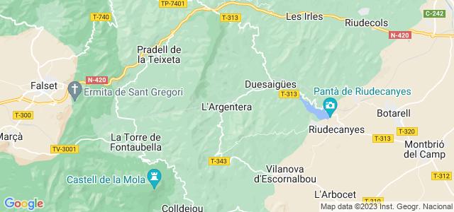 Mapa de Argentera