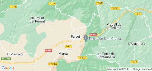 Mapa de Falset