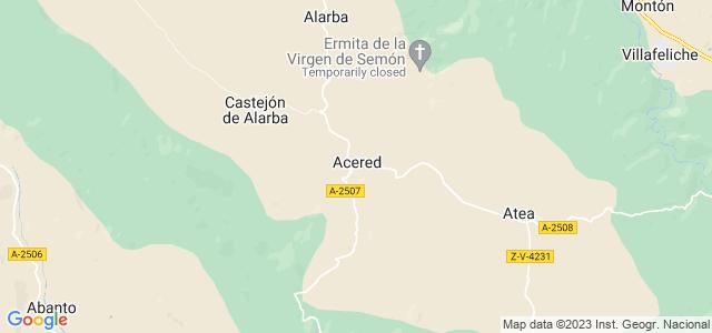 Mapa de Acered