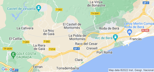 Mapa de Pobla de Montornès