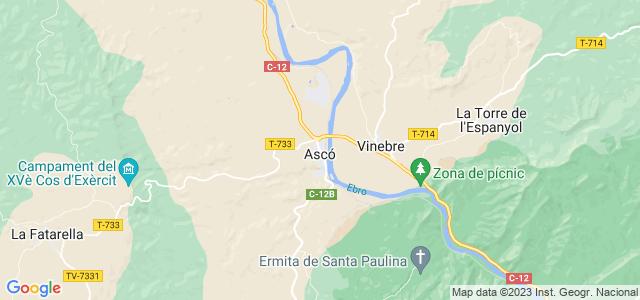 Mapa de Ascó