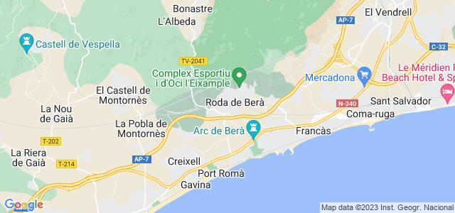 Mapa de Roda de Barà