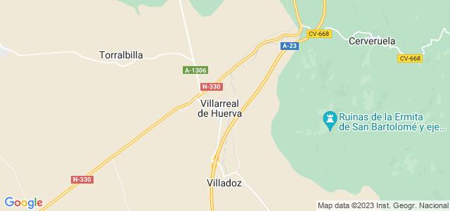 Mapa de Villarreal de Huerva