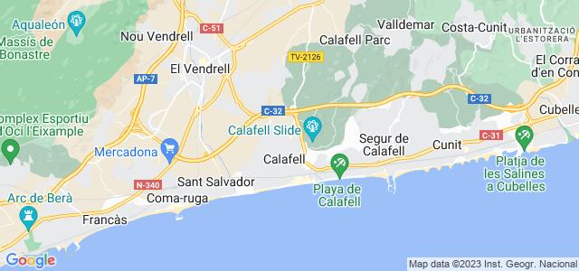 Mapa de Calafell