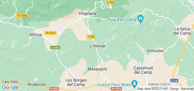 Mapa de Aleixar