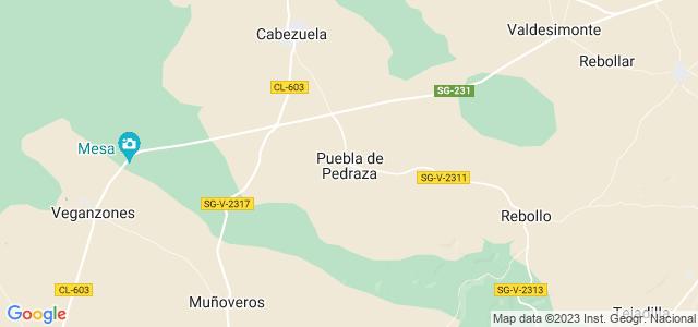 Mapa de Puebla de Pedraza