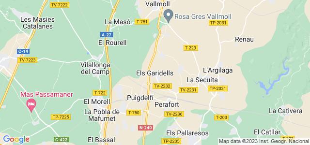 Mapa de Garidells