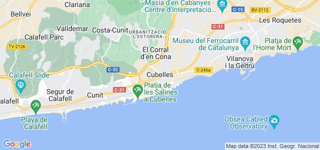 Mapa de Cubelles