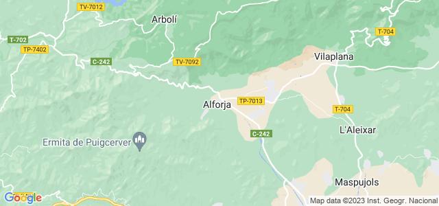Mapa de Alforja