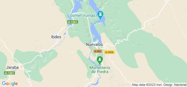 Mapa de Nuévalos