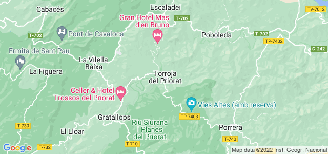 Mapa de Torroja del Priorat