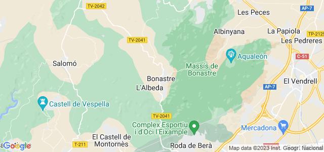 Mapa de Bonastre