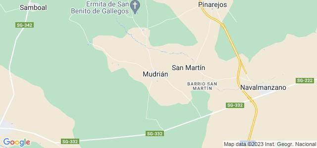 Mapa de San Martín y Mudrián
