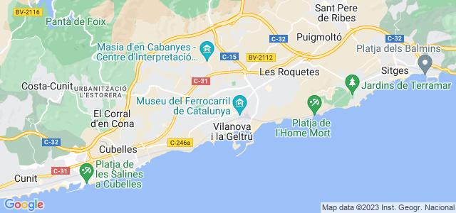 Mapa de Vilanova i la Geltrú