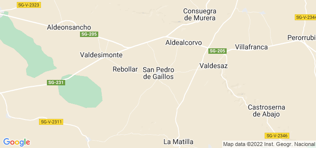 Mapa de San Pedro de Gaíllos