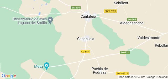 Mapa de Cabezuela