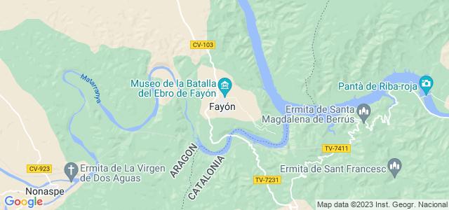Mapa de Fayón