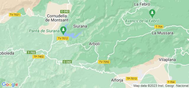 Mapa de Arbolí