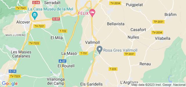 Mapa de Vallmoll