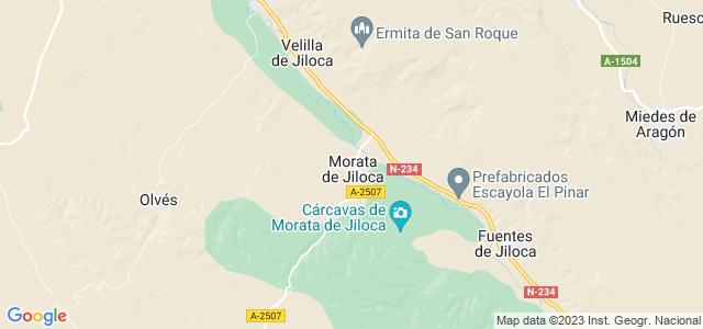 Mapa de Morata de Jiloca
