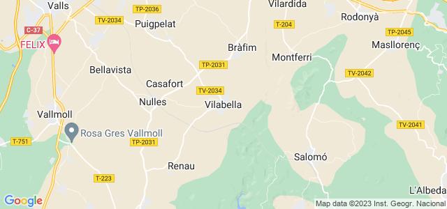Mapa de Vilabella