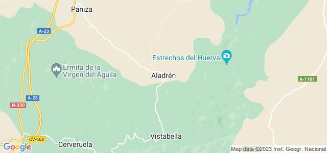 Mapa de Aladrén