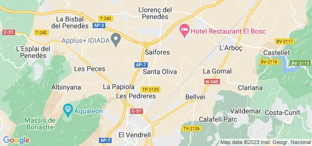 Mapa de Santa Oliva