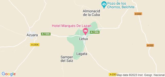 Mapa de Letux