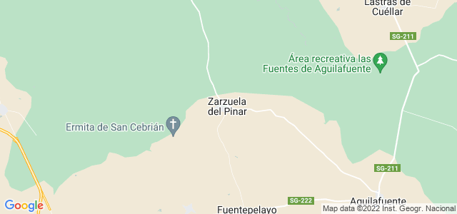 Mapa de Zarzuela del Pinar