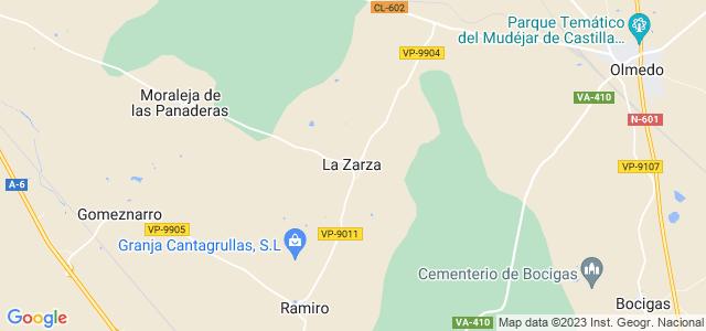 Mapa de Zarza