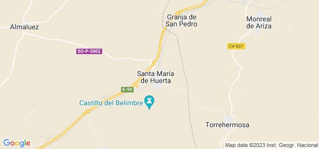 Mapa de Santa María de Huerta